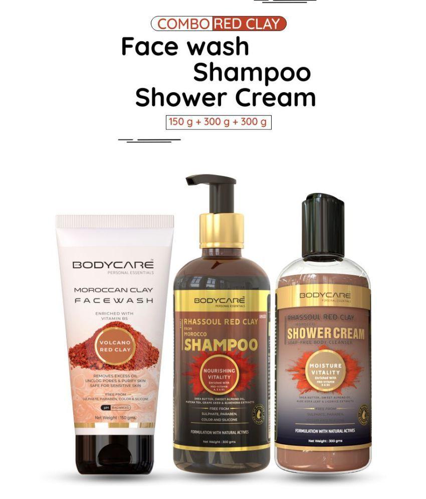 MY BODYCARE Clay Shampoo+Facewash+shower Moisturizing Bath Kit
