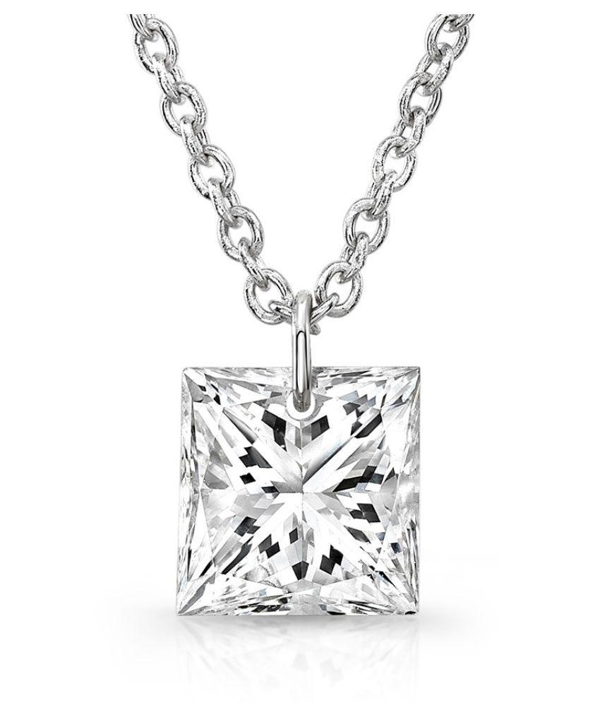 Silver 5.25 Ratti Zircon  Pendant by  KUNDLI GEMS