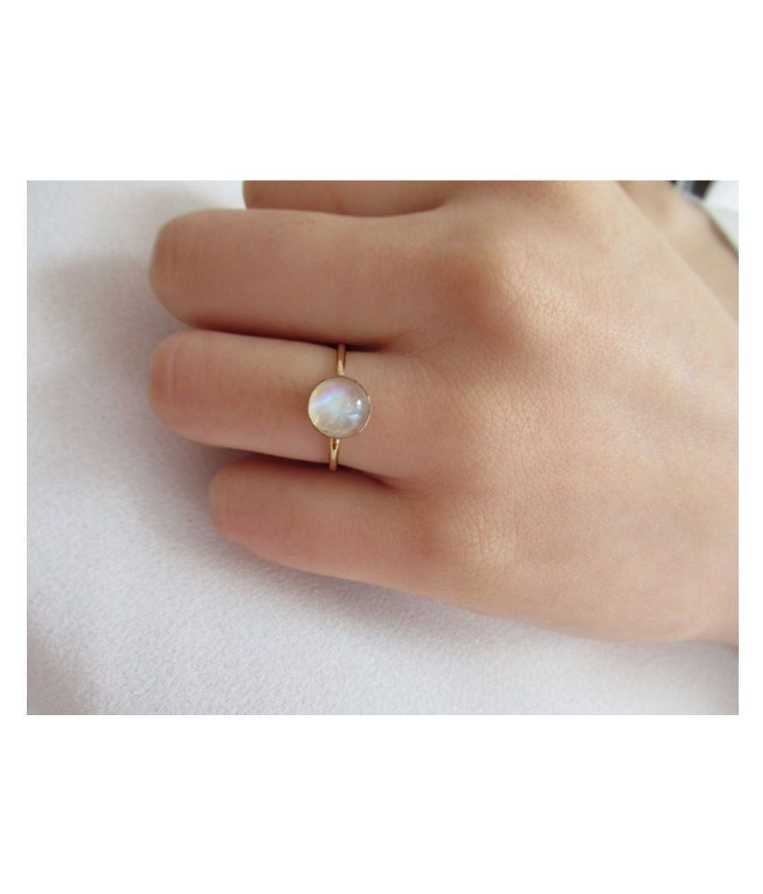 Lab Certified MOONSTONE  Ring Unheated & Natural MOONSTONE  silver Ring by Kundli Gems