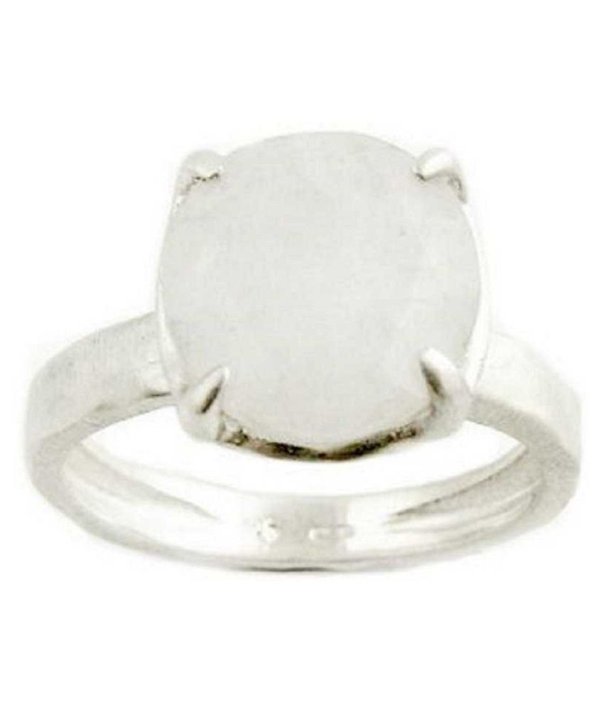 Certified 12.25 Carat  Silver MOONSTONE  Stone Ring by Kundli Gems