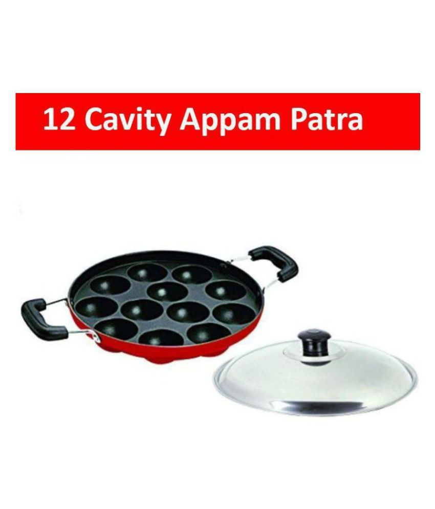 Dynore Non stick 12 Regular Aluminium Appam Patra mL