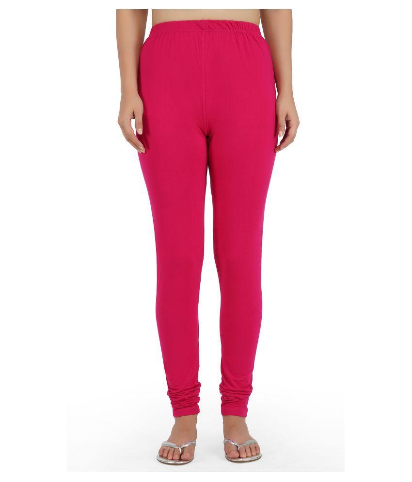 Girly Girls Cotton Jeggings - Pink