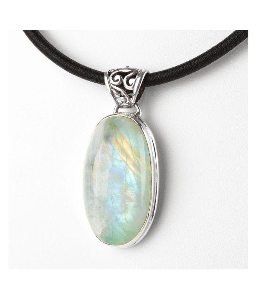 MOONSTONE  Pendant 8.25 Ratti 100% Original silver MOONSTONE  Stone by Kundli Gems