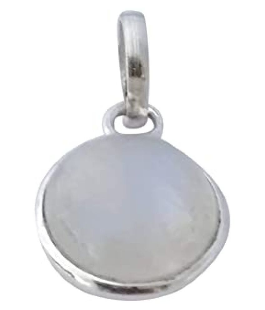 11 Ratti  Silver MOONSTONE  Stone Pendant by  Kundli Gems