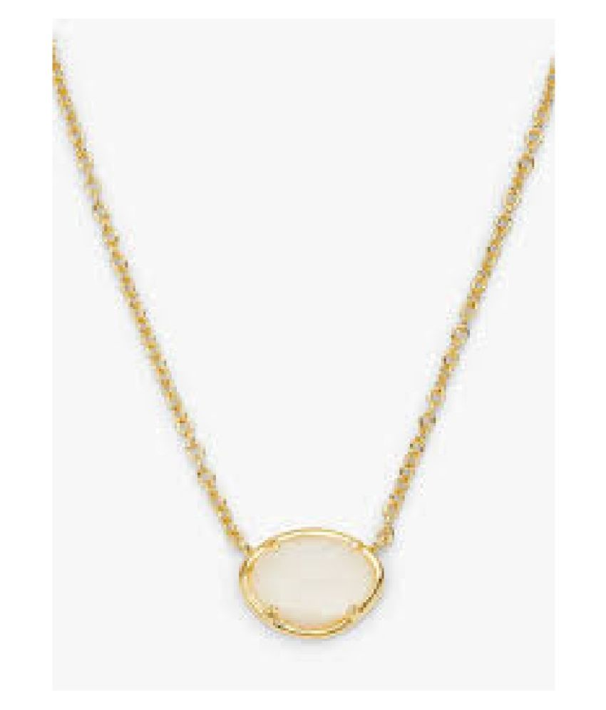 12.25 ratti Stone  Natural MOONSTONE  Gold Plated Pendant by  Kundli Gems\n