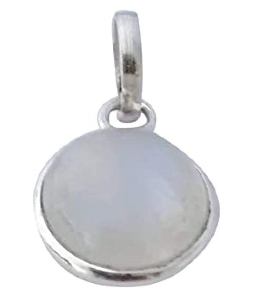 10 Ratti  Silver MOONSTONE  Stone Pendant by   Ratan Bazaar
