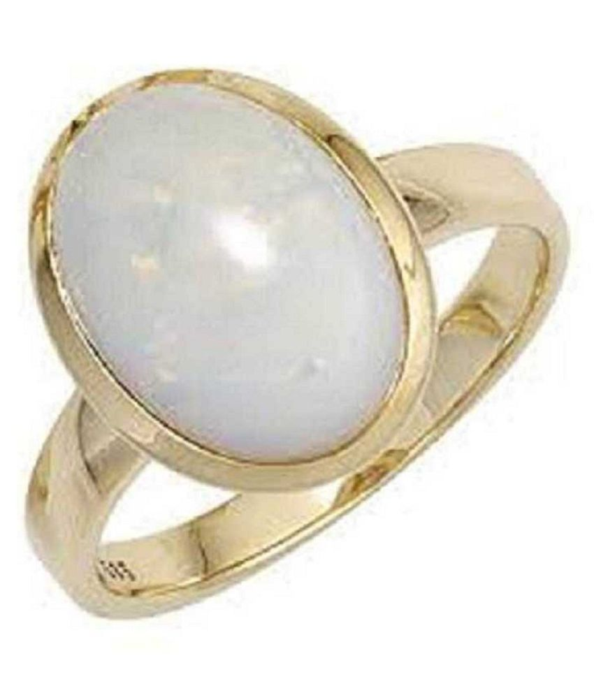 8.25 Carat 100 Original Certified Stone OPAL Gold Plated Ring By Kundli Gems
