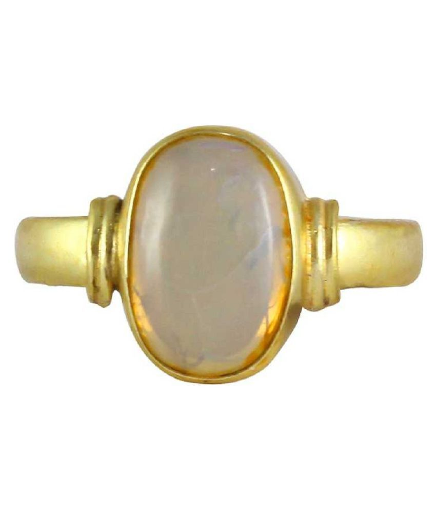 9 Ratti Gold Plated Original OPAL  Ring Lab Certified Stone by Kundli Gems\n