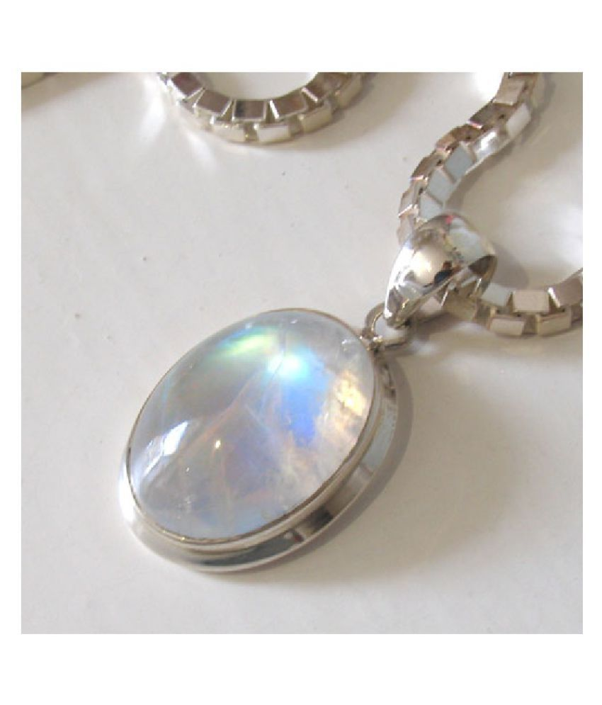 Astrological Stone 7 Ratti Certified silver Pendant by  Ratan Bazaar