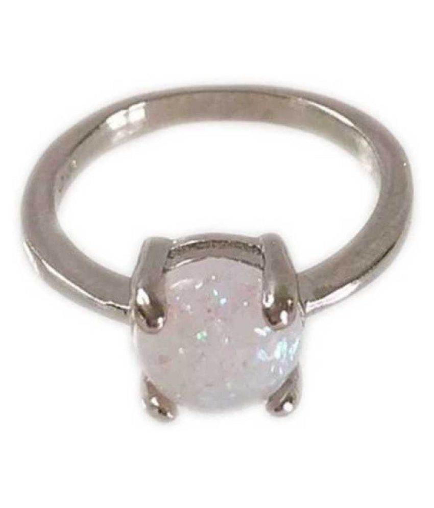 2.25 ratti natural OPAL  Stone pure Silver Ring for unisex by Kundli Gems\n
