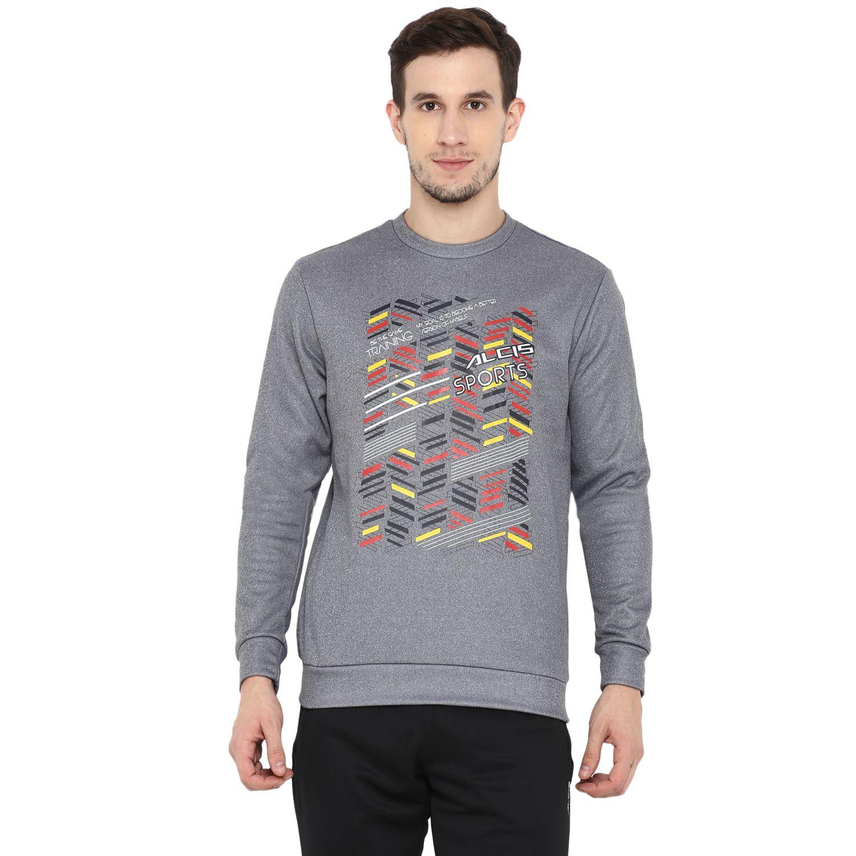 Alcis Grey Polyester Sweatshirt Single Pack
