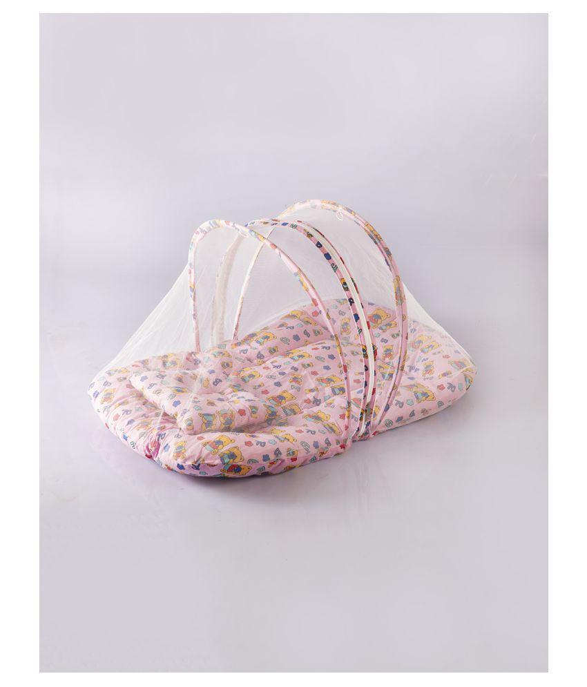 KOLAR Pink Cotton Mosquito Net ( 40 cm × 48 cm)