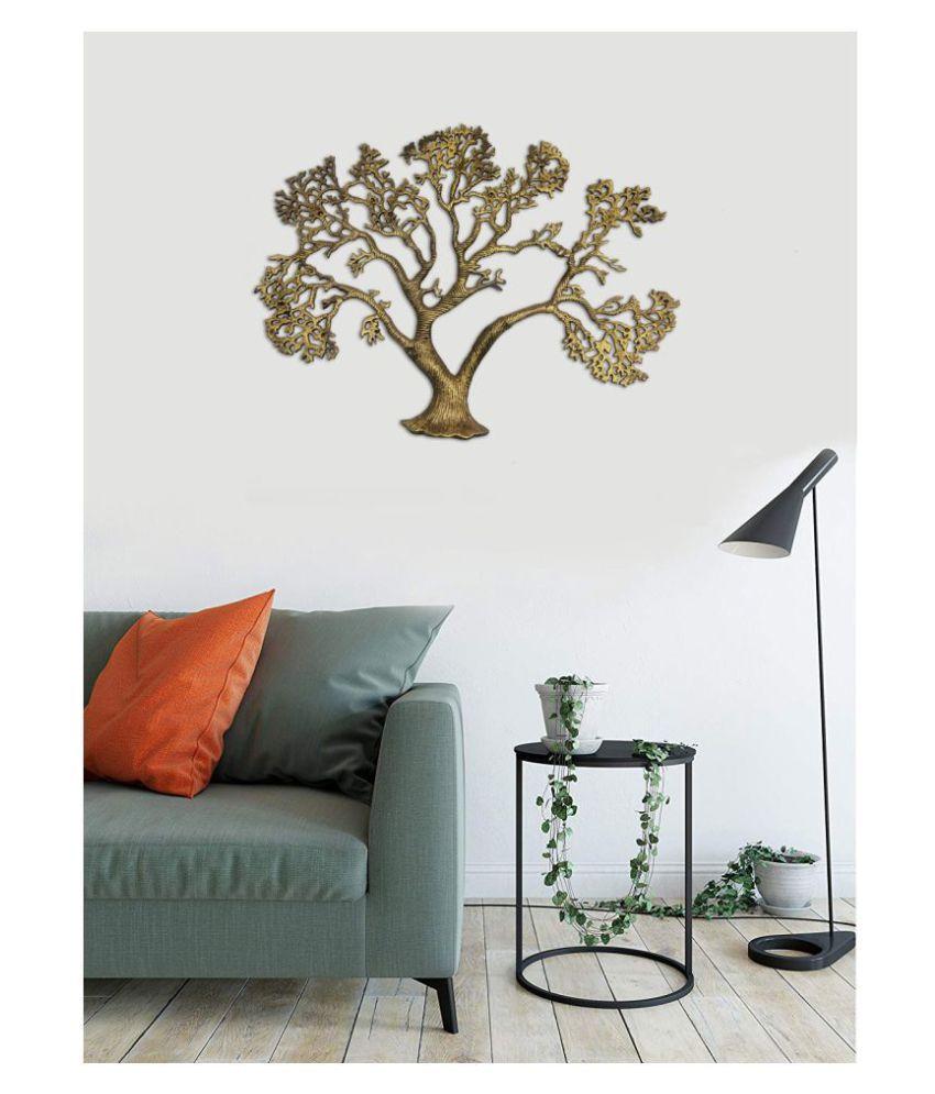 designer international Aluminium WALL DECOR ALUMINUM TREE Wall Sculpture Brown - Pack of 1