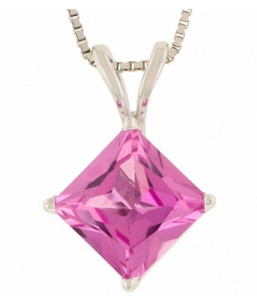 Natural Lab Certified 4.25 carat 100% Original Pink Sapphire  Pendant for unisex by Kundli Gems\n