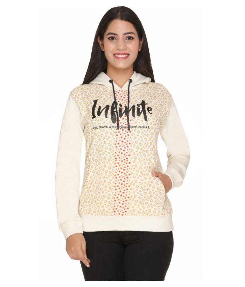 MACHORD Cotton - Fleece Off White Hooded Sweatshirt