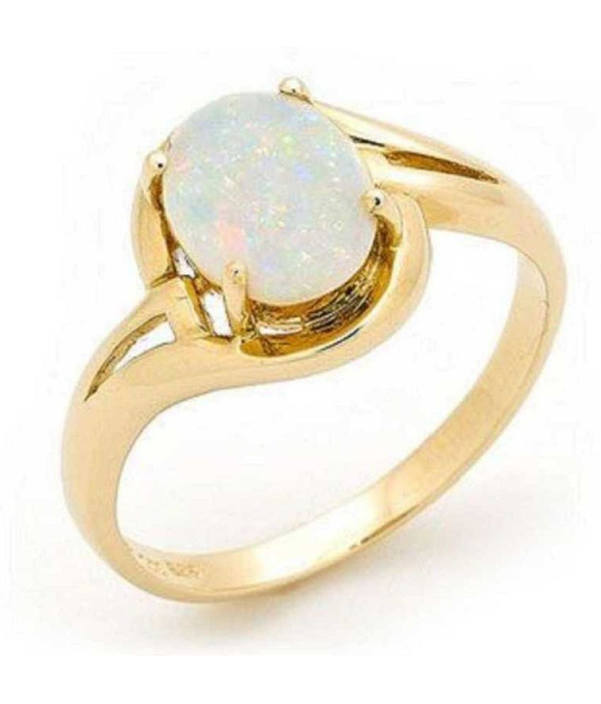 11.25 Carat Stone OPAL  Gold Plated Ring for unisex by Ratan Bazaar\n