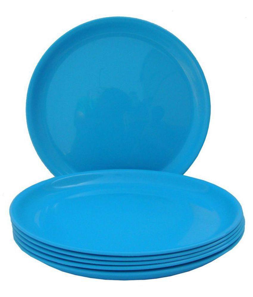Incrizma Dinner Plate 6 pcs Plastic Dinner Set of 6 Pieces