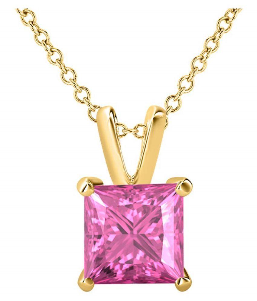 Pink Sapphire Natural & Unheated Stone  10 Ratti Gold Pendant by Kundli Gems
