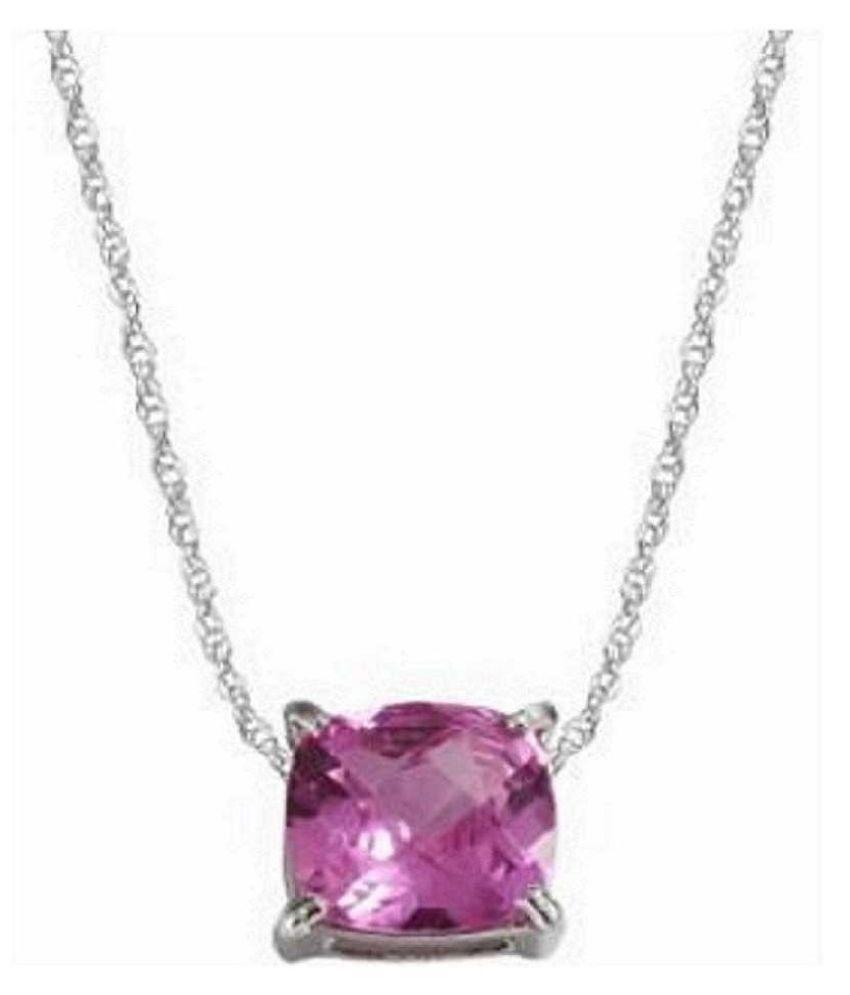 100% Natural 5.25 carat Pink Sapphire  silver Pendant by Ratan Bazaar\n