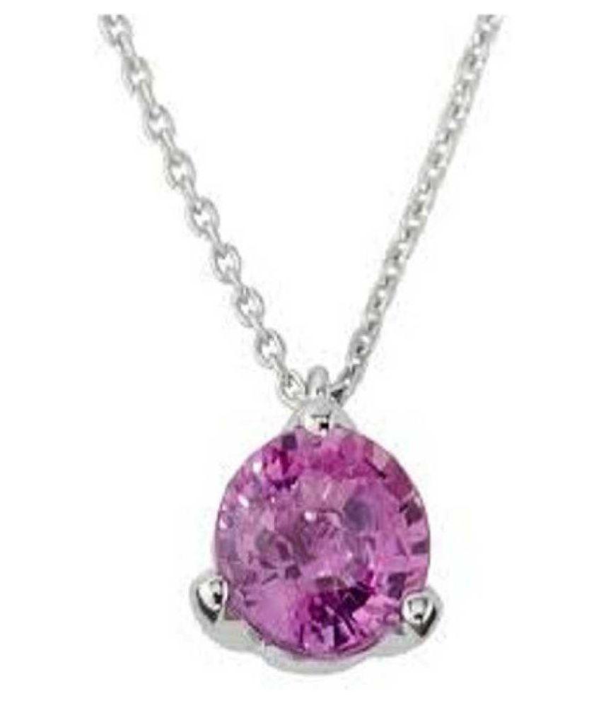 5.25 RATTI silver  Pink Sapphire  Pendant by Ratan Bazaar\n