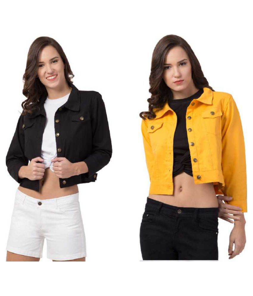Dress Universal Cotton Yellow Jackets
