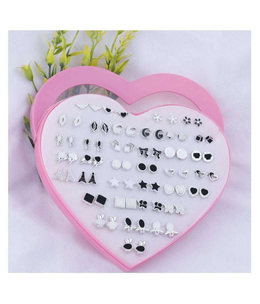 N M CREATION Stud Earring  Delicate look Stud Earring Set of 36 for Women Girl