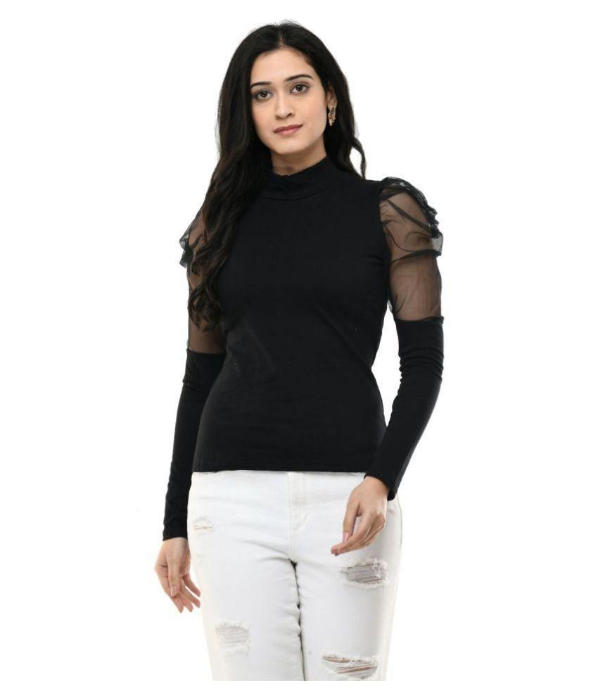 SAAKAA Net Regular Tops - Black