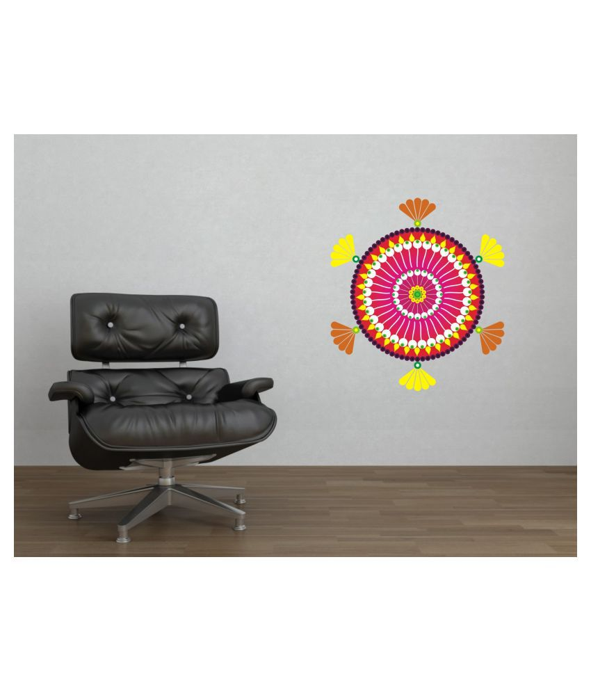 sp decals sp decals rangoli wall sticker  Abstract Glow in the Dark Sticker ( 58 x 58 cms )