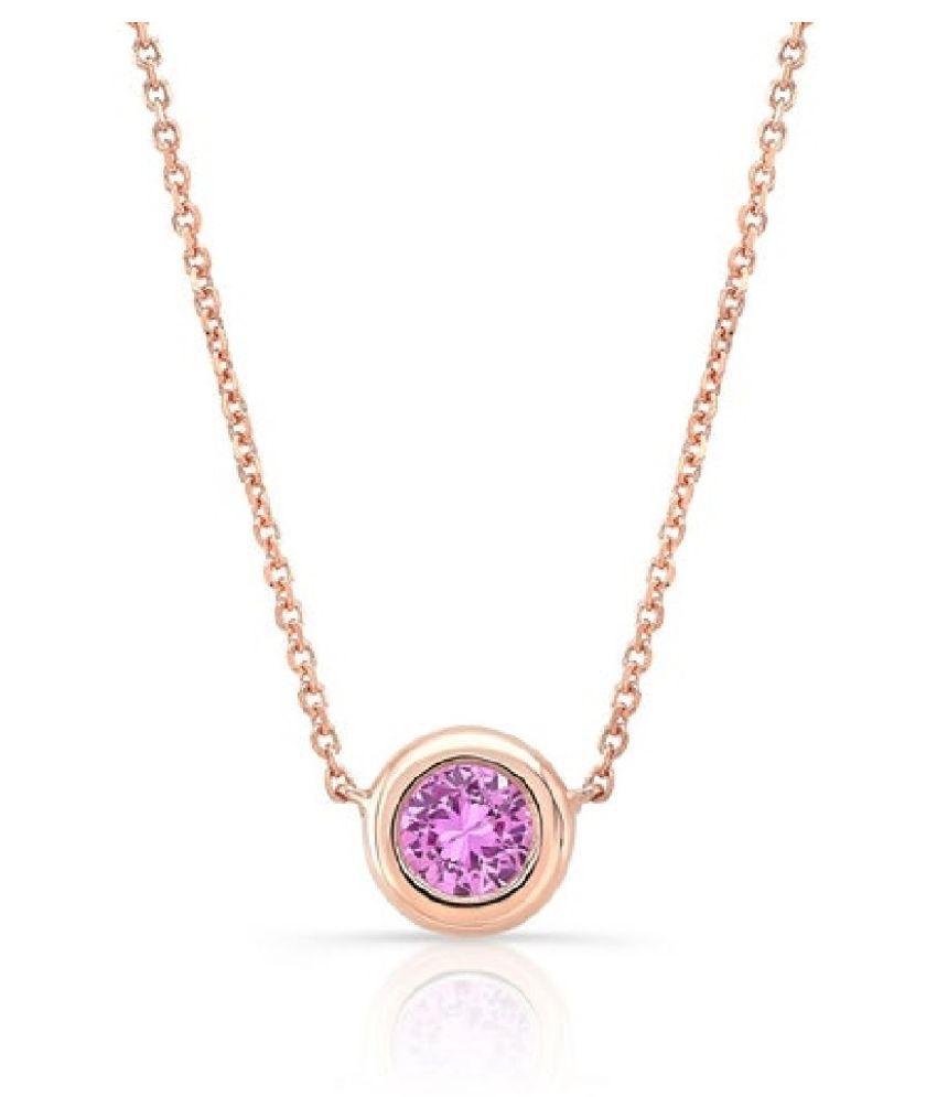 11.5 RATTI  Gold Plated  Pink Sapphire  Pendant  by  Ratan Bazaar\n
