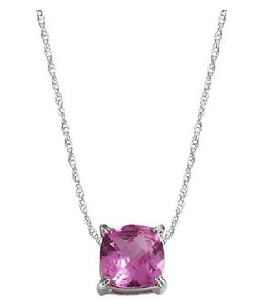 12 Ratti Natural IGI Lab Certified Pink Sapphire Stone Gold Pendant By  Ratan Bazaar