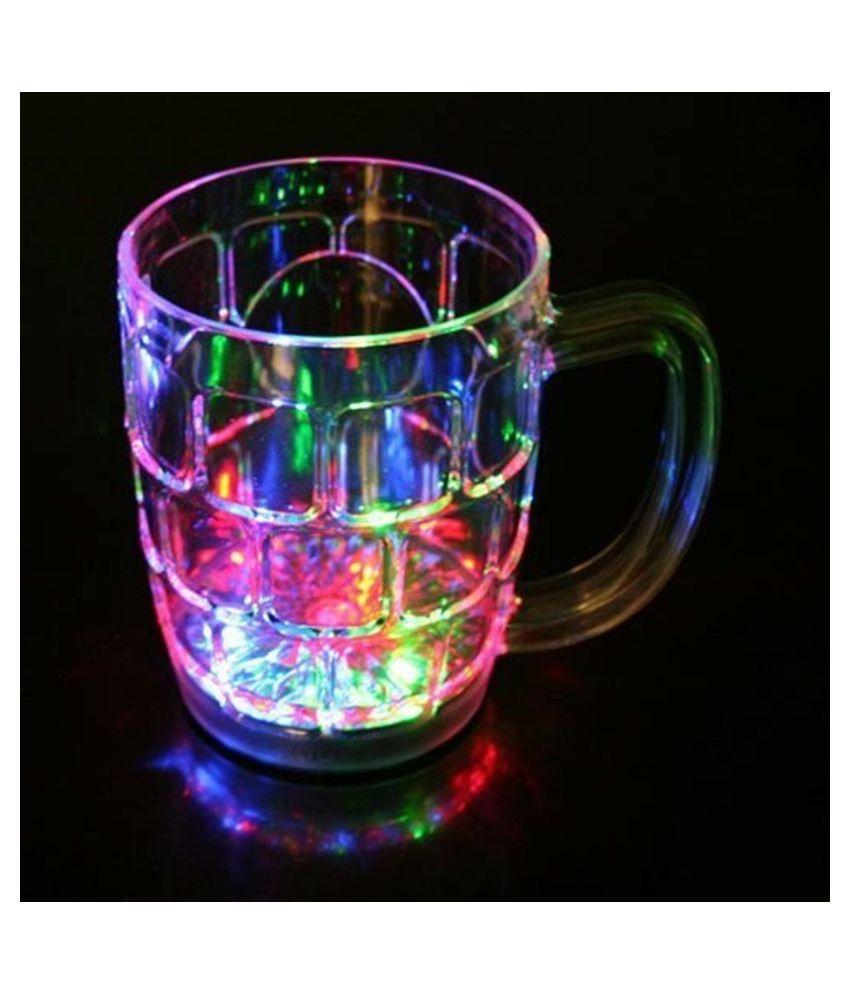 Amazing Light Changing Fibre Glass Beer Mug Glass Pendant - Pack of 1