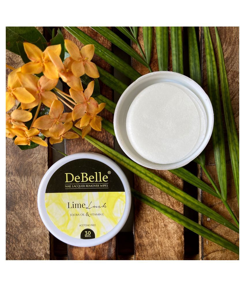 DeBelle Lime Lush Nail Paint Remover Pads 25 mL