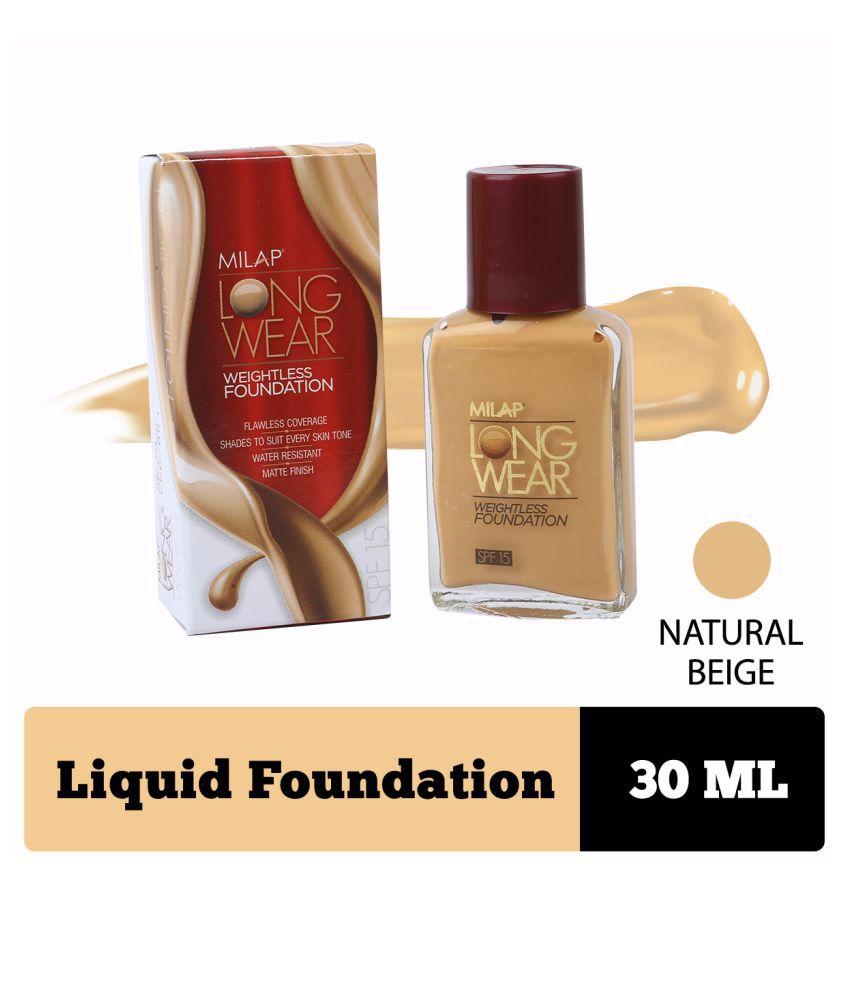 MILAP Liquid Foundation Natural Beige Nude 30 g