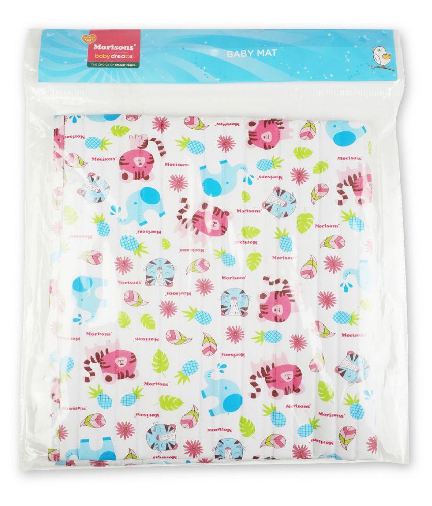 Morisons Baby Dreams White Fleece Cot Mattress ( 25 cm × 15 cm)