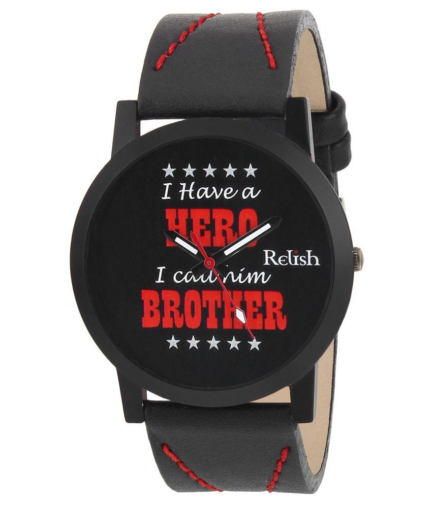 Relish RE S8078BB PU Analog Men #039;s Watch
