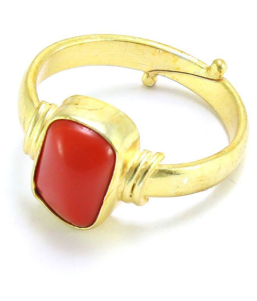 BR Gems Red Coral Moonga 7.25 Ratti Natural Red Coral Moonga