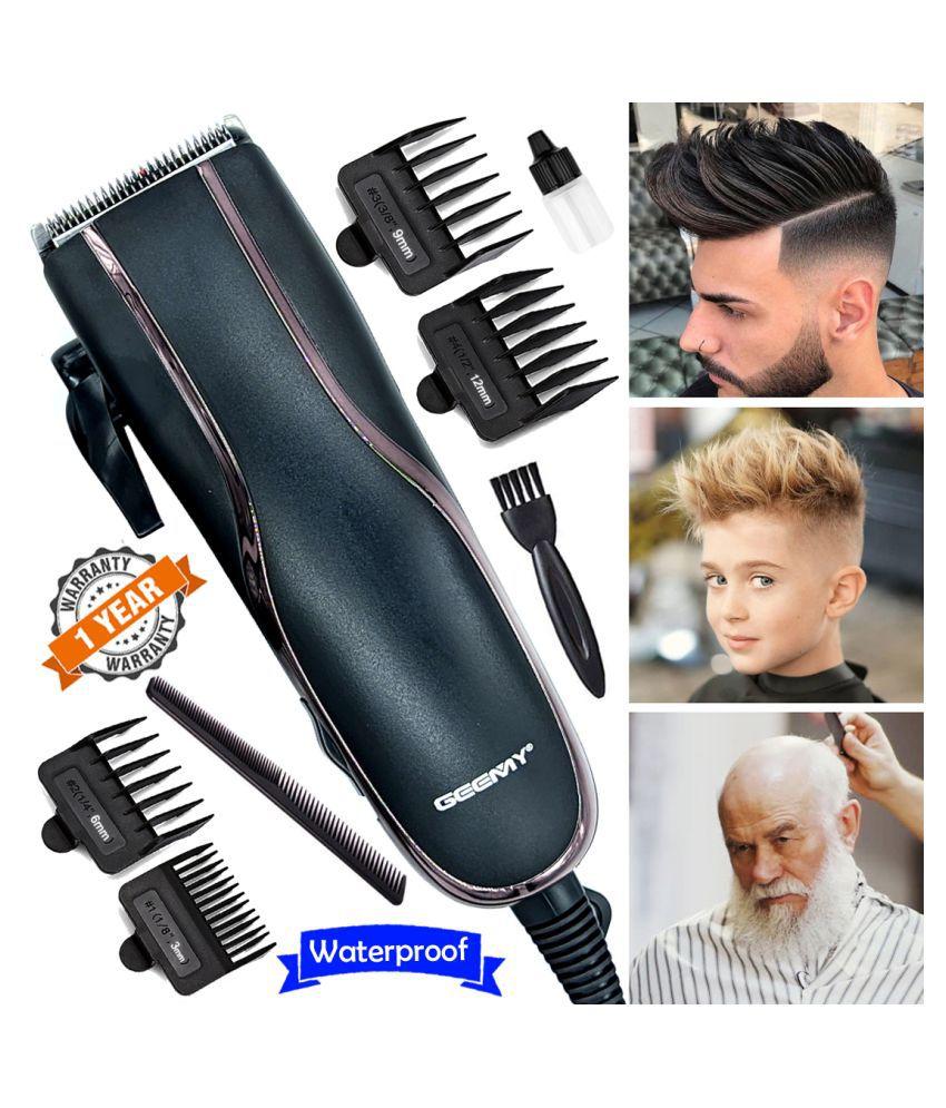 G Men's Big Powerful Waterproof Corded 9W Beard Mustache Trimmer Hair Clipper Combo
