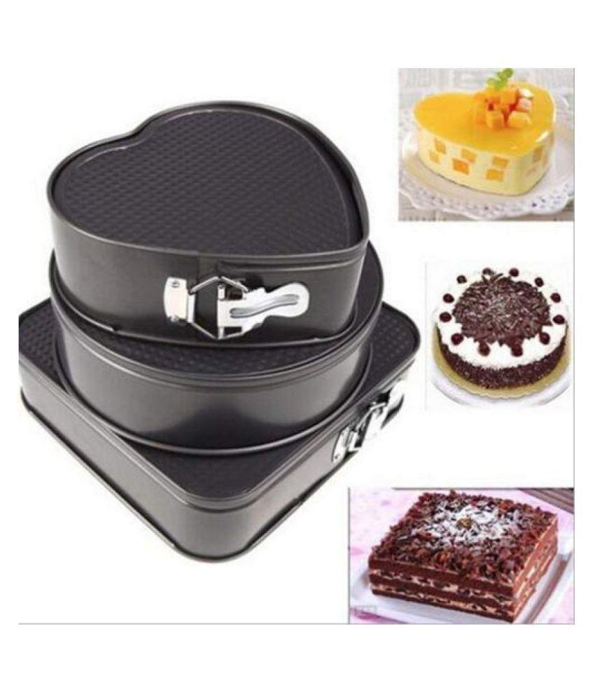 PD CAKE MOULD TINS SET OF 3 Carbon Steel Cake tin 1000 mL