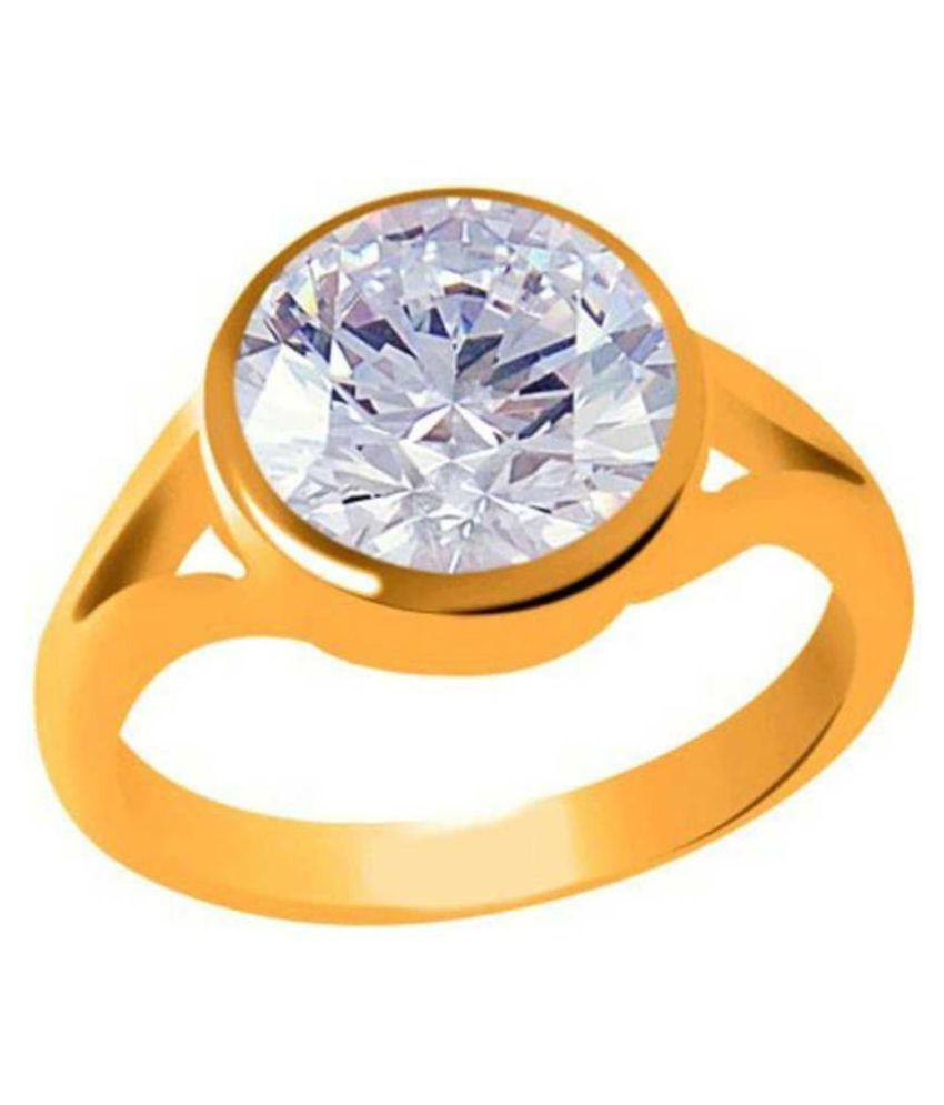 American Diamond Zircon 8.25 Ratti Jerkan Panchadhatu Ring