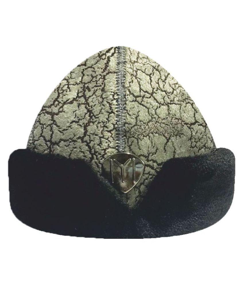 Ertugrul Ghazi Cap Gray Embroidered Fabric Caps