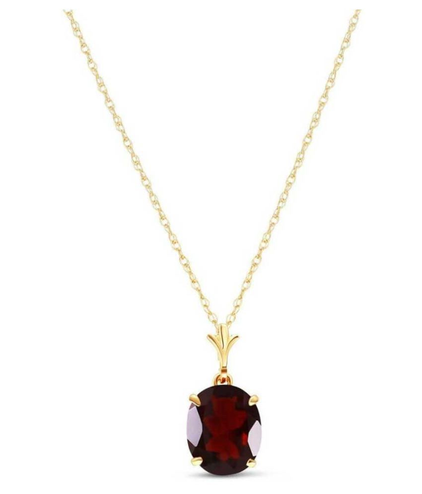 10.5 Ratti Hessonite (Gomed)  Pendant Natural  Gold Plated Stone Pendant by KUNDLI GEMS