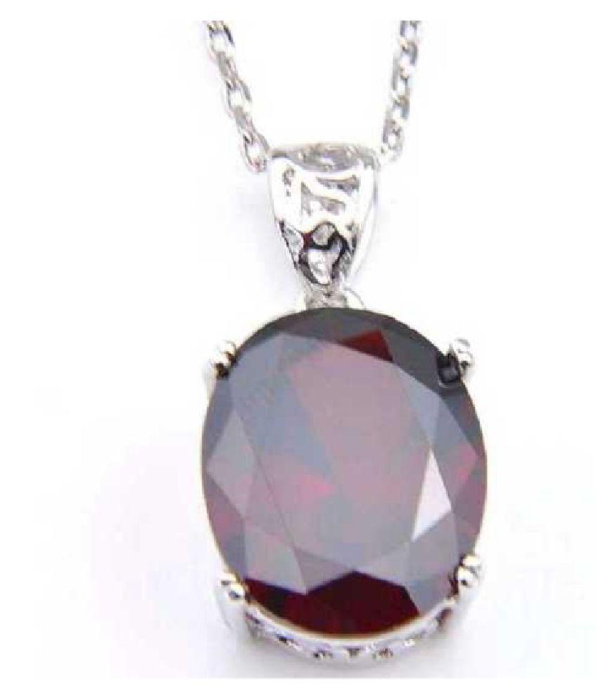 Natural 10.25 carat Hessonite (Gomed)  Silver Pendant by  KUNDLI GEMS\n