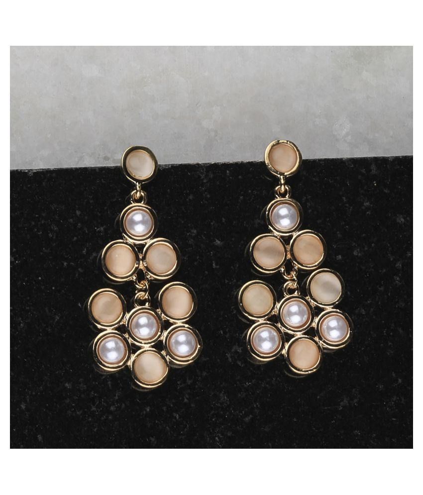 SILVER SHINE  Atrractive Delicated Patry Wear Pearl Earring For Women Girl