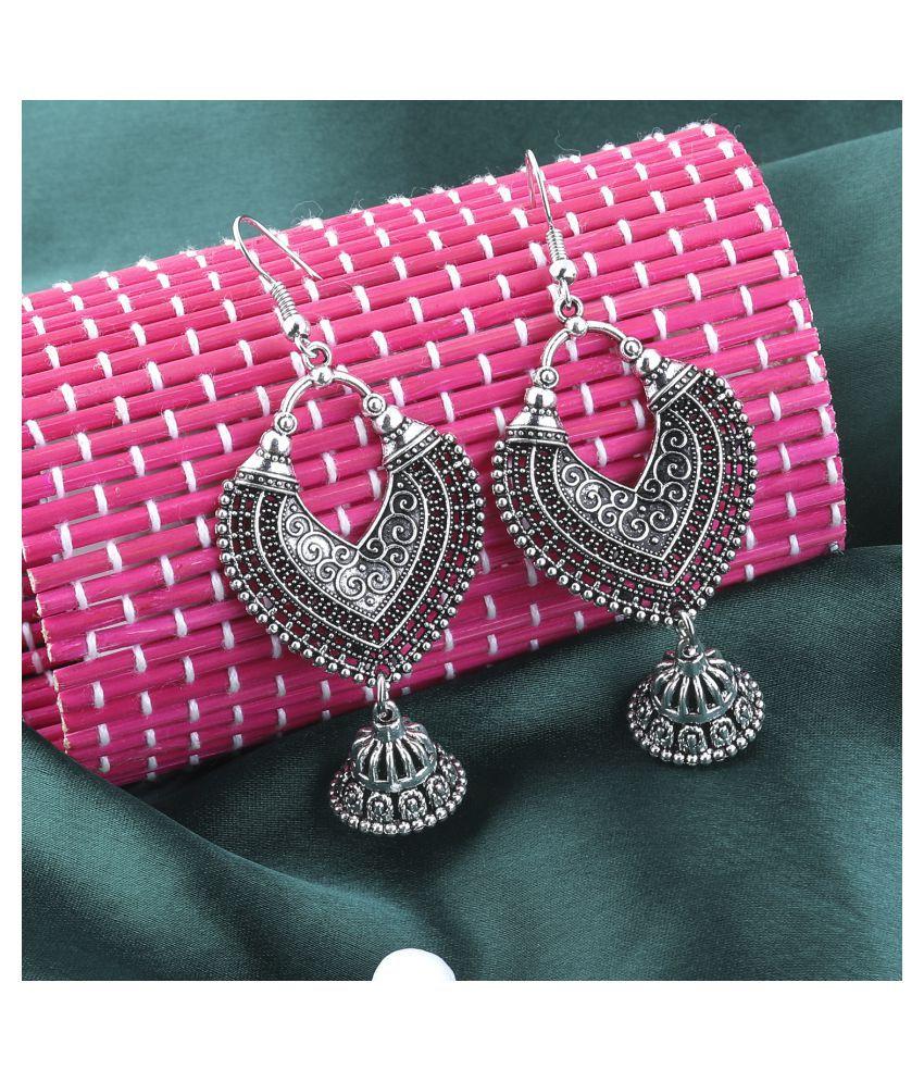 SILVER SHINE  Dazzling Silver Fish Hook Earrings for Women