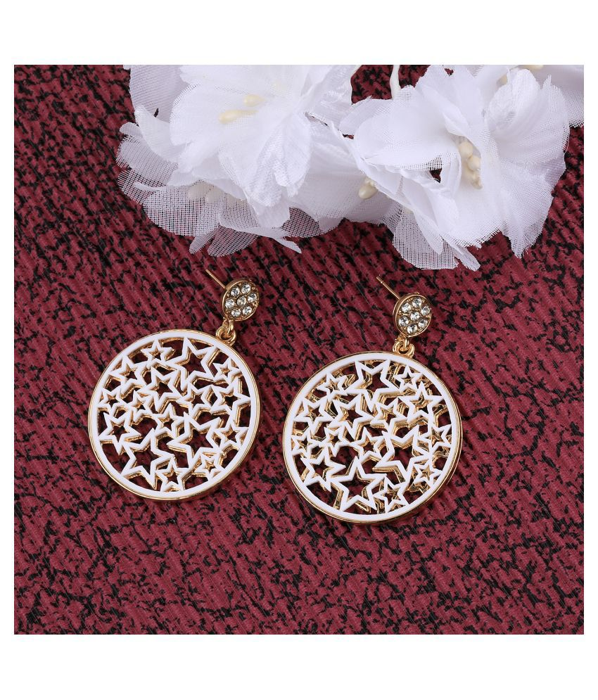 SILVER SHINE  Gold White Plated Stylish Look Earring For Women Girl