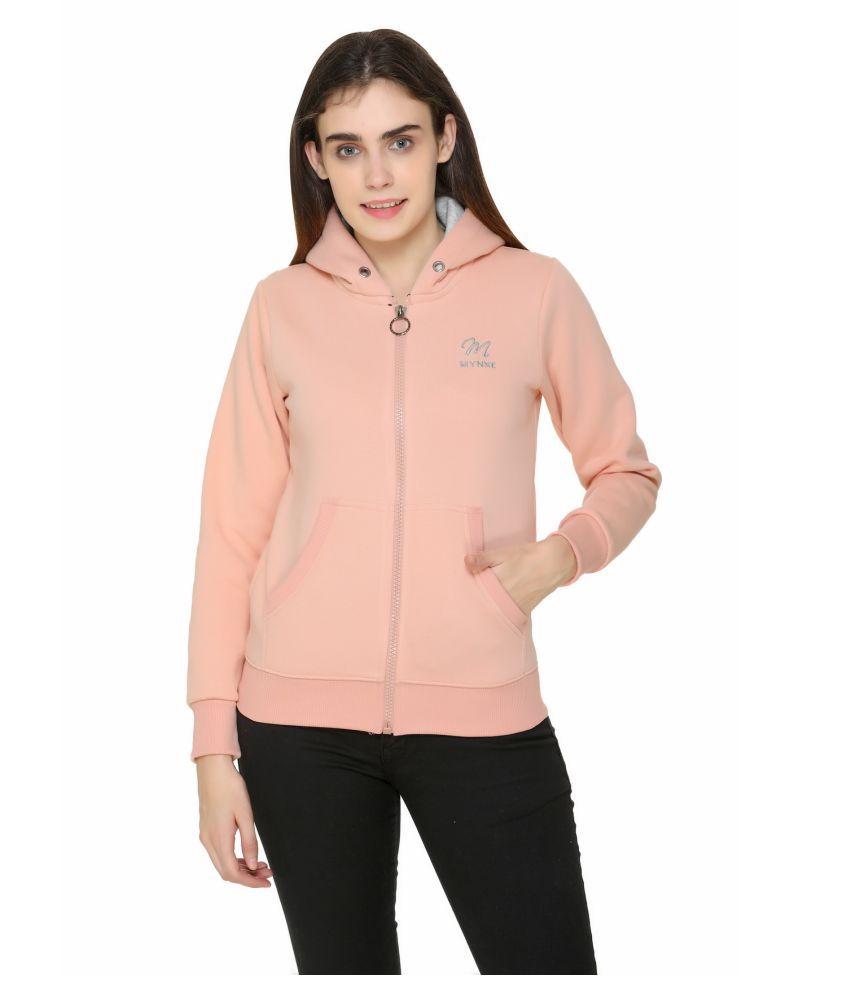 Oswal Cotton - Fleece Pink Hooded Sweatshirt