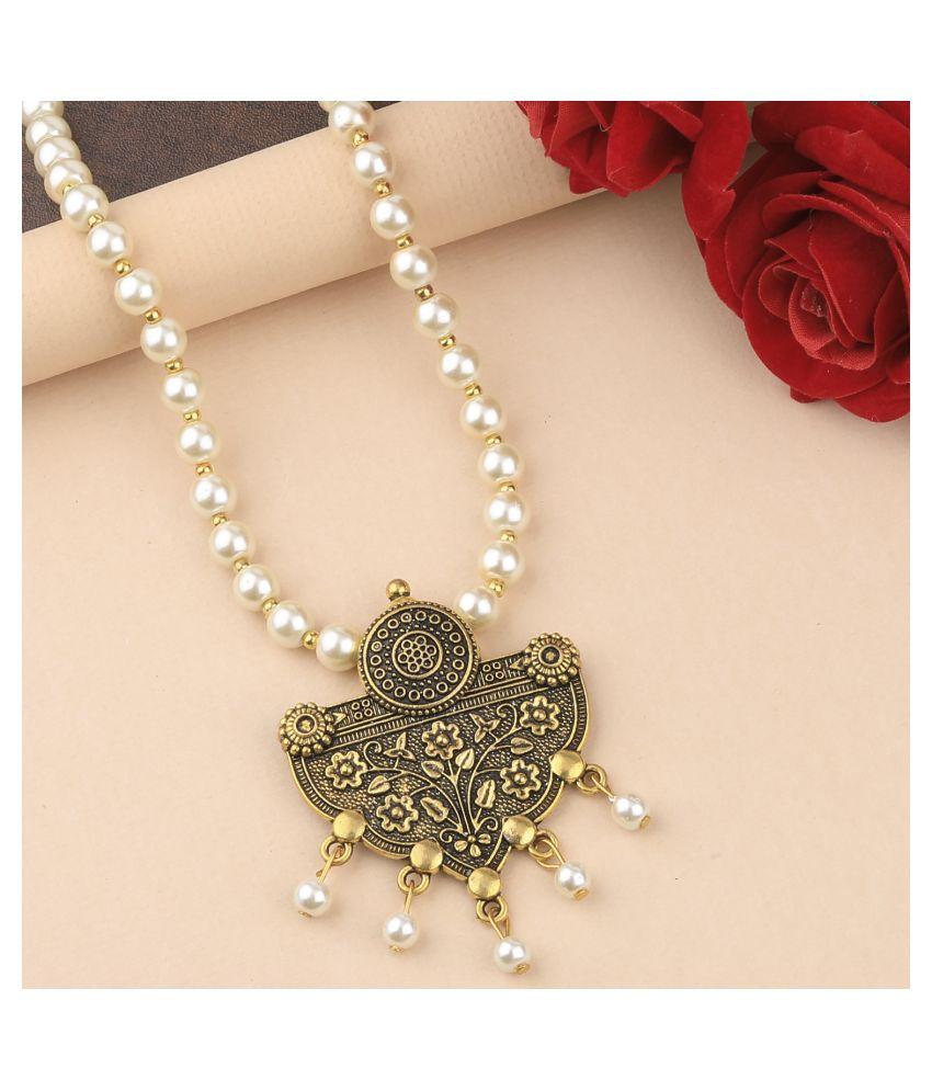 Silver Shine Alloy Golden Contemporary Contemporary/Fashion Antique Necklaces Set