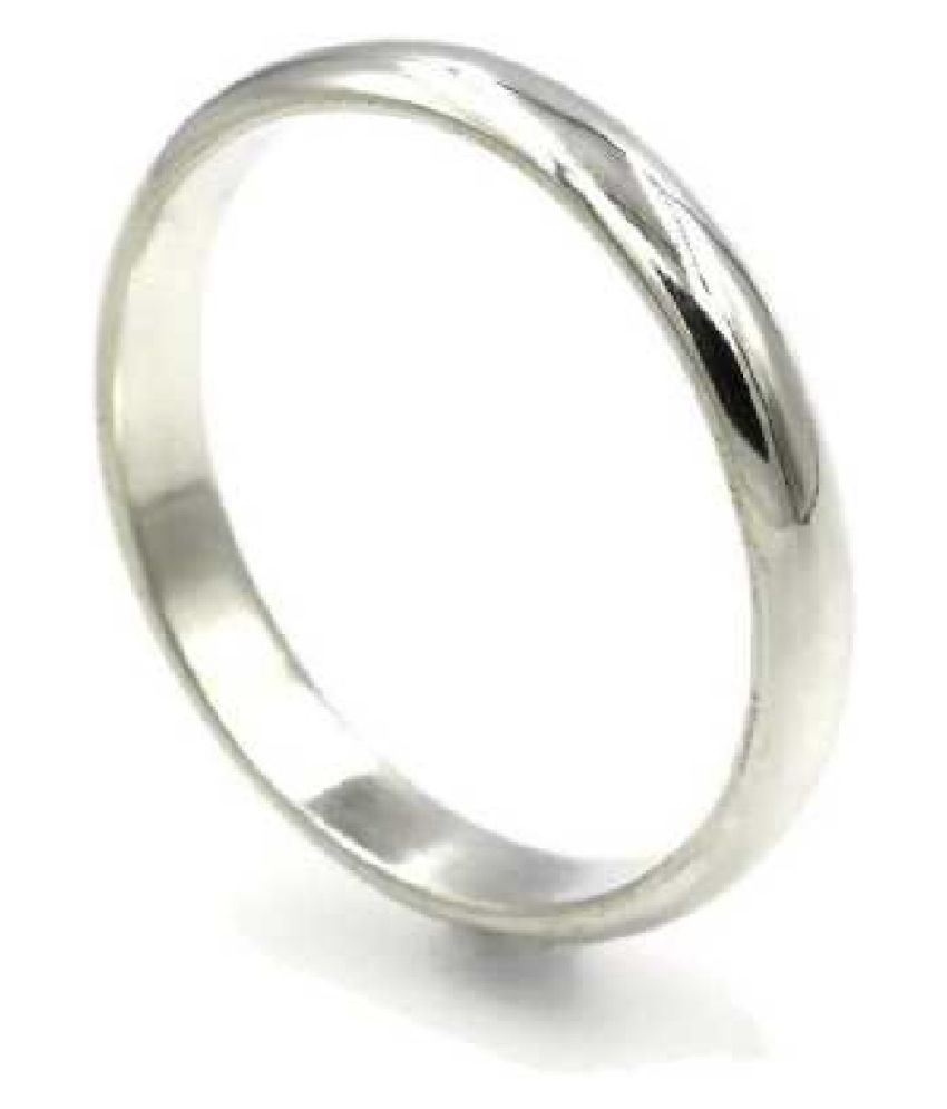 Kundli Gems - Natural Silver challa Ring challa Silver Natural Ring for Unisex (Adult)