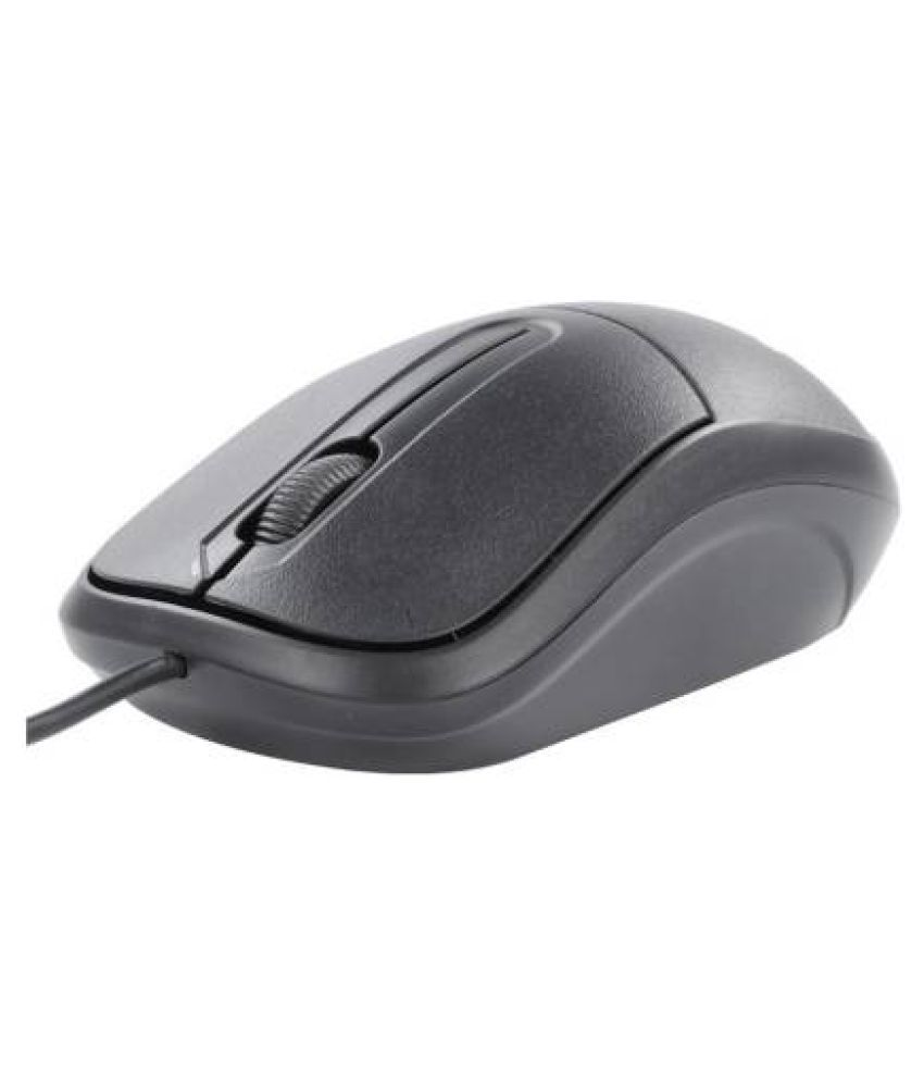 Zebronics Optical Mouse USB2.0 Black USB Wired Mouse