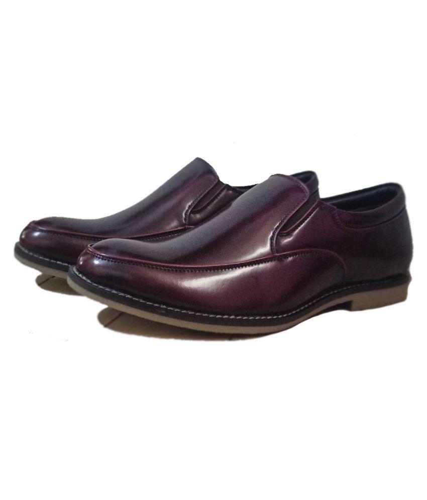 Onrenk Maroon Formal Shoes